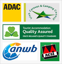 ADAC, Irish Caravan & Camping Council, Failte Ireland, ANWB, ACSI